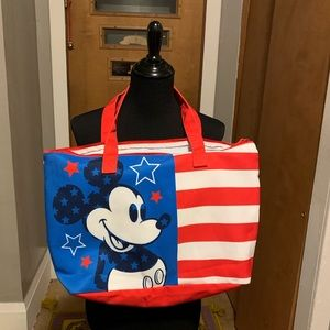 DISNEY Mickey Mouse Americana canvas tote!